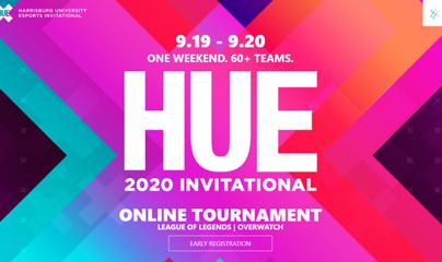 9.19 - 9.20 ONE WEEKEND. 60 + TEAMS. HUE 2020 INVITATIONAL ONLINE TOURNAMENT