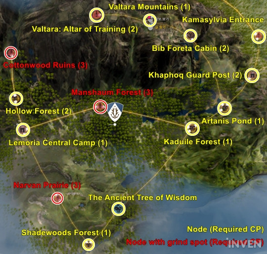 Bdo guide sights around kamasylvia and how to reach the nodes stories about ranger and dark knight continue to unfold in this region each character wielding different powers but under the same oath to protect gumiabroncs Image collections