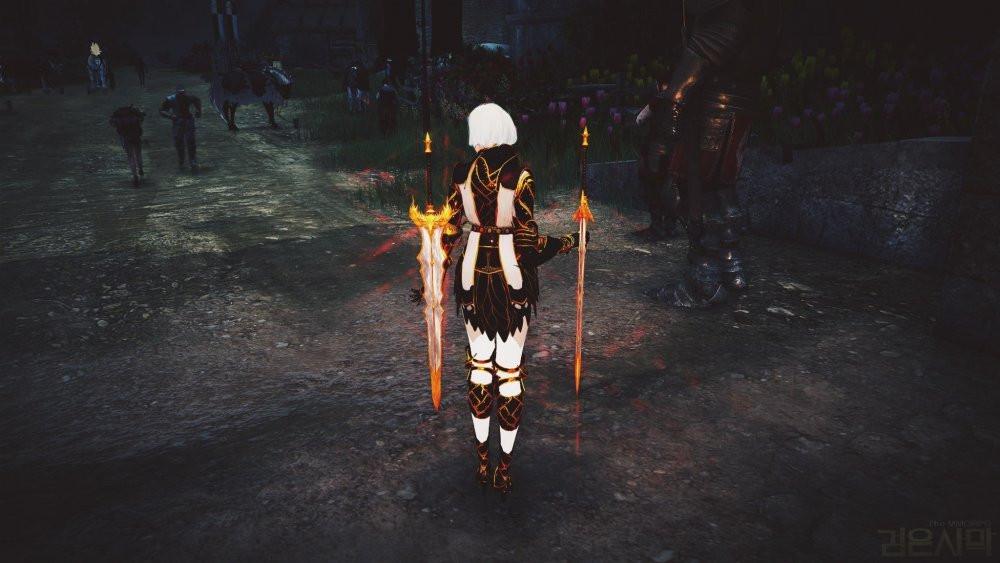 Black Desert Online: New Pearl costume for Dark Knight (dyed