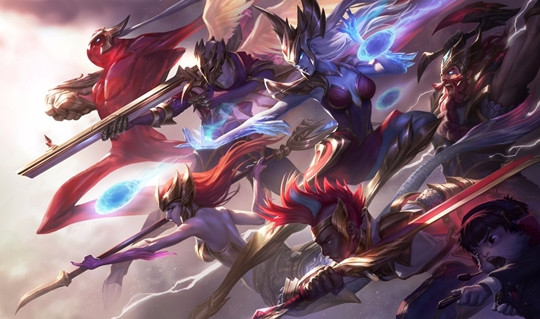 League of Legends: The official LoL Championship splash art for SKT
