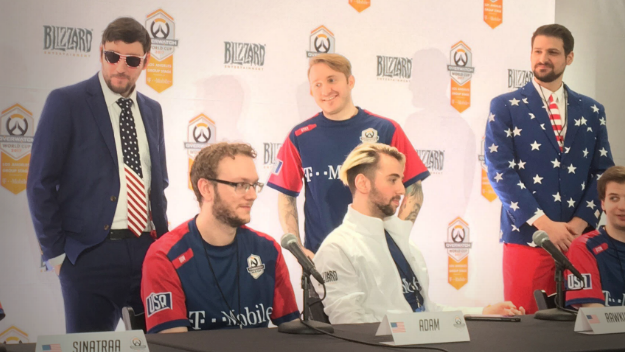 """00ebcb6c3319 Overwatch  Team USA at the LA Group Stage  """"We all come from a ..."""