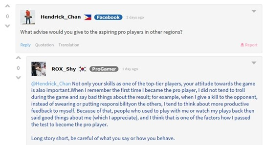 """League of Legends: ROX Tigers Shy after his AMA: """"I want to"""