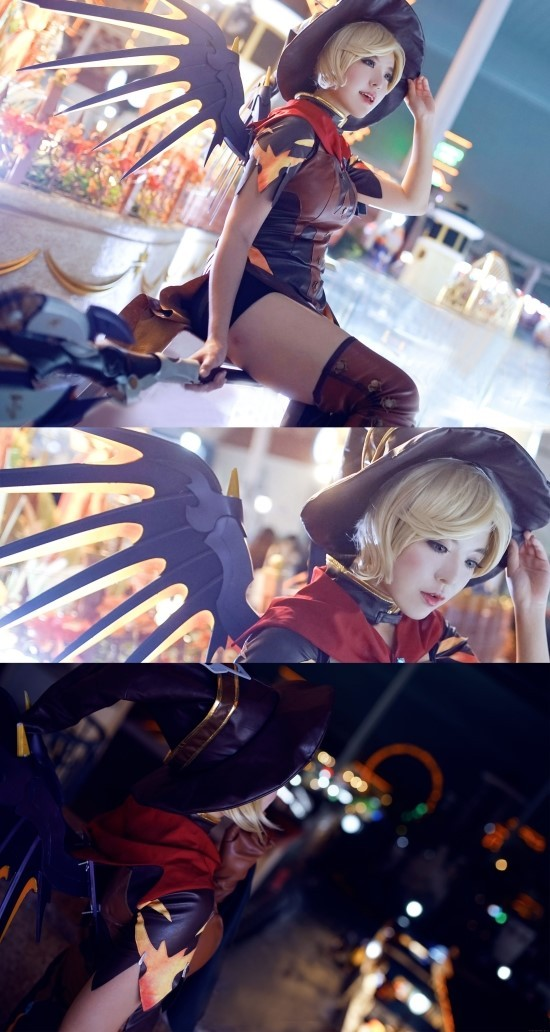 Overwatch Witch Mercy Cosplay Au Inven Global