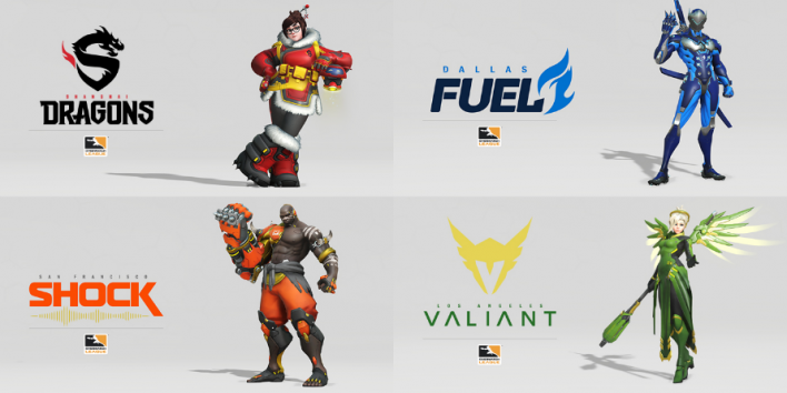 Los Angeles Valiant Color Change Competitiveoverwatch