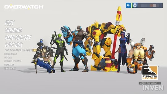 The Overwatch League menu has been added to the menu screen