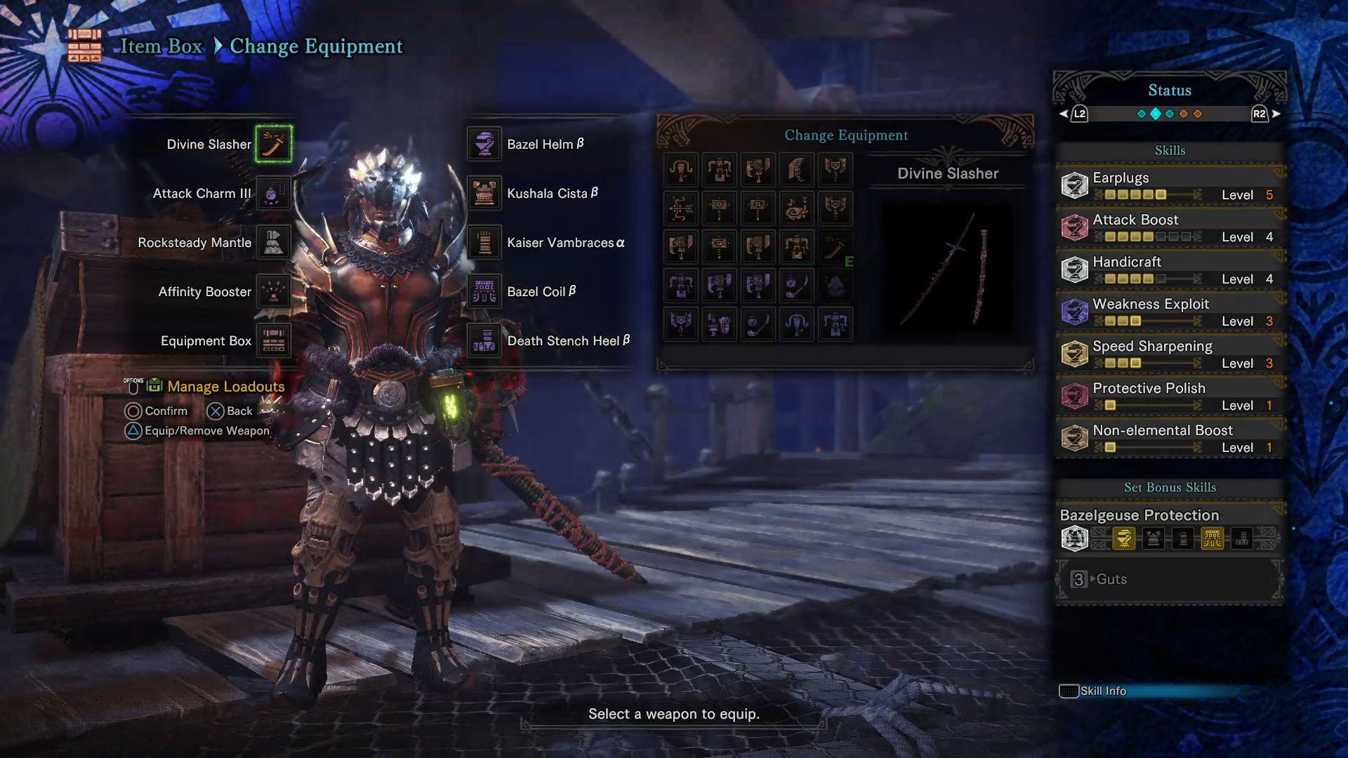 MHW Long Sword - Non-elemental Longsword setting with Divine