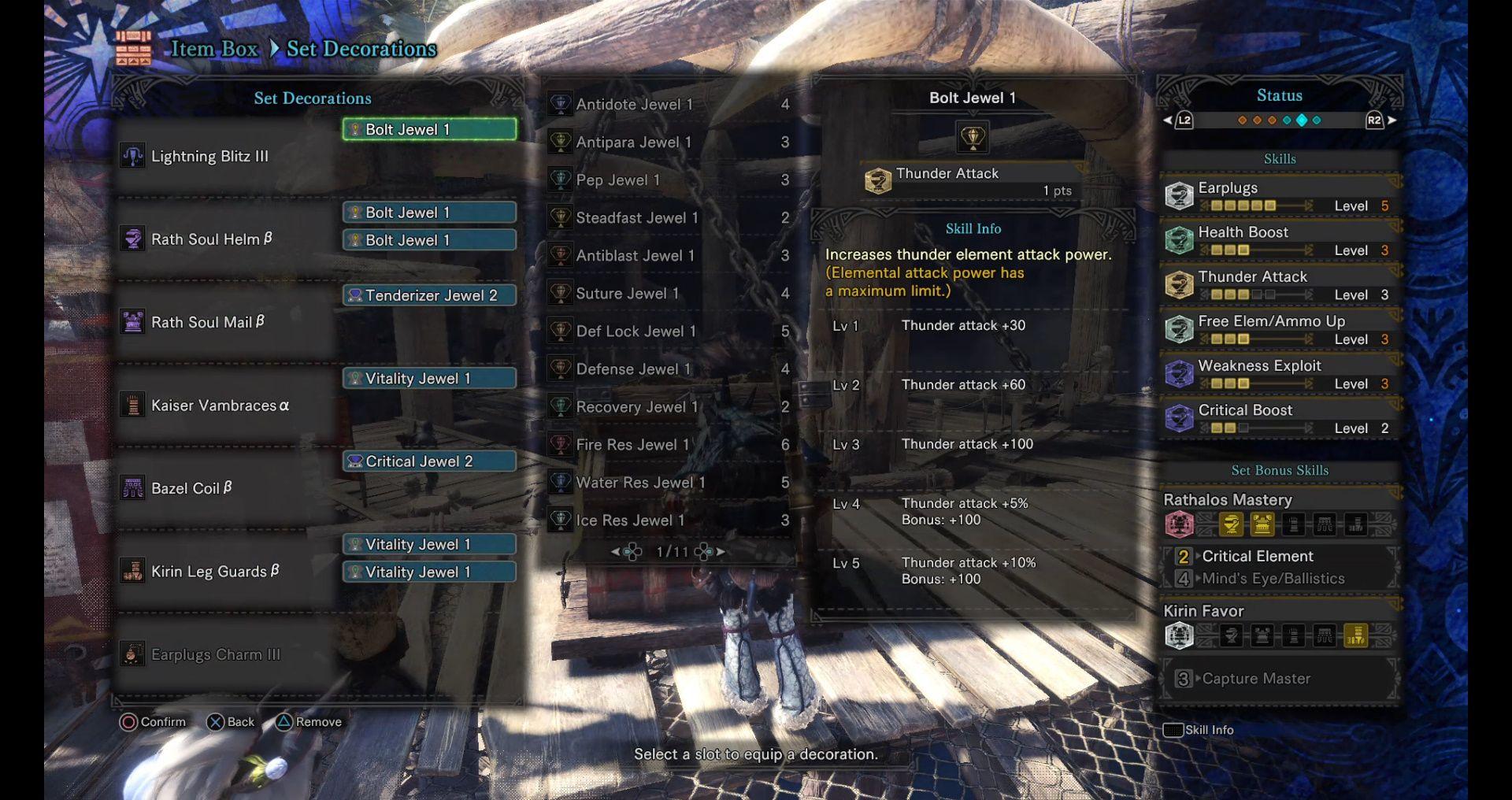 MHW Light Bowgun - Fire and Lightning rapidshot setting - Monster
