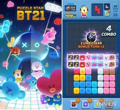LINE Friends' PUZZLE STAR BT21 hits 1 million downloads in