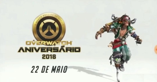 The new legendary Junkrat skin from the teaser for Overwatch Anniversary 2018