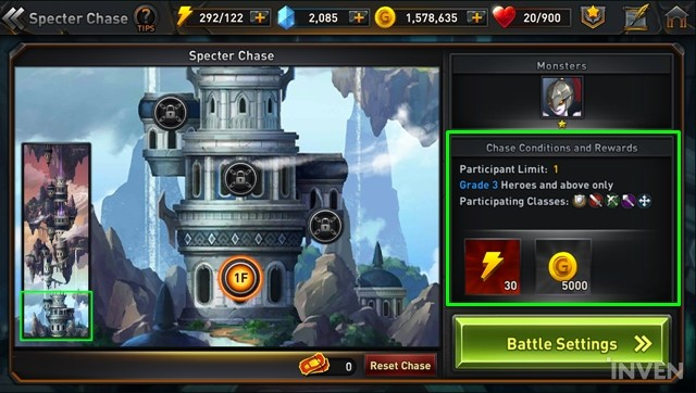 Returners Specter Chase Guide - Dispatch Suitable Heroes and Defeat