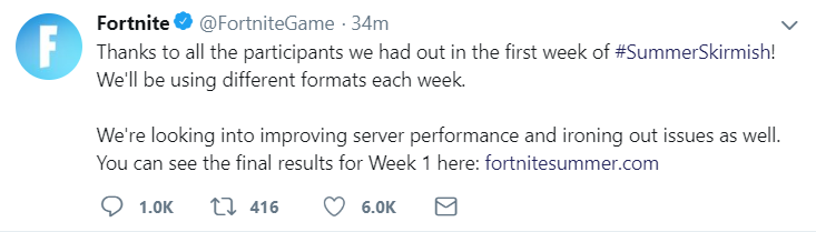 The first official Fortnite tournament was a disaster