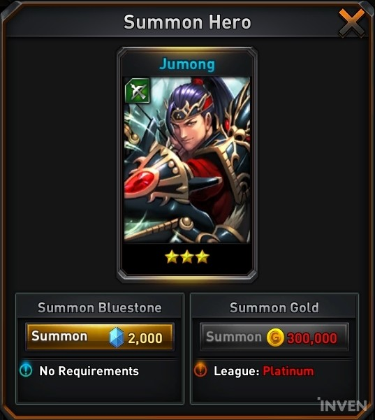 Returners Hero Spotlight - Jumong, the star of PvP content with the