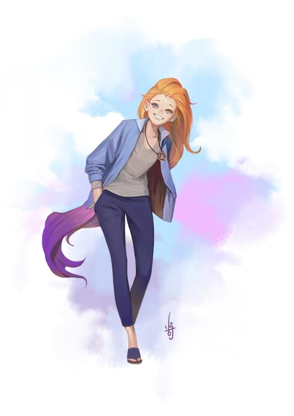 League of Legends: Zoe in a Daily Outfit - LoL Zoe Fanart