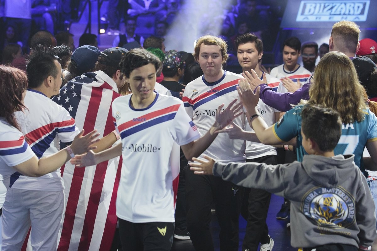 0e9c045a9 Team USA has finished the 2018 Overwatch World Cup Los Angeles Cup Group  Stage as the 1st seed. It will be representing the stars and stripes at  Blizzcon ...