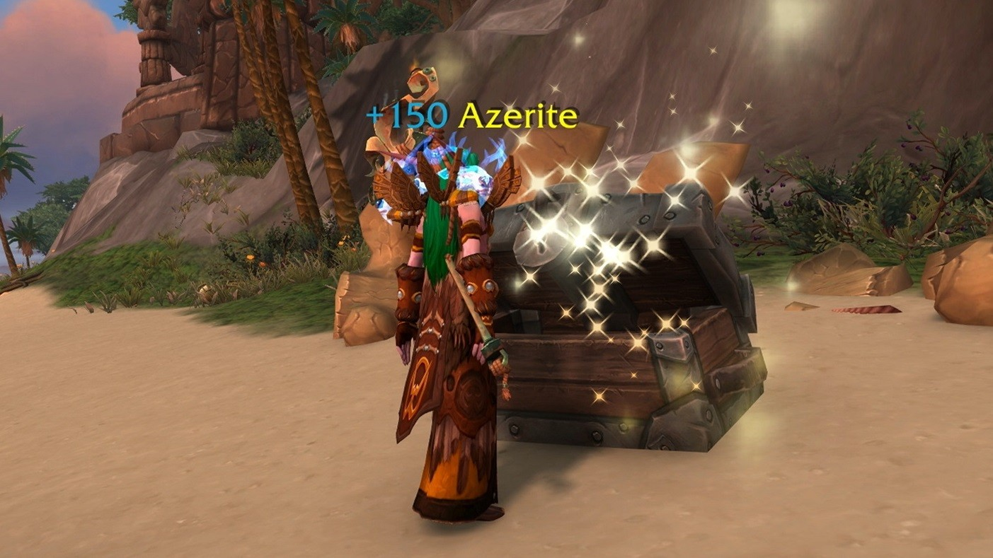 wow mythic + azerite gained