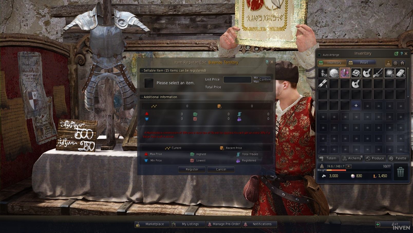 Black Desert Online Basics Guide - How to use the Marketplace