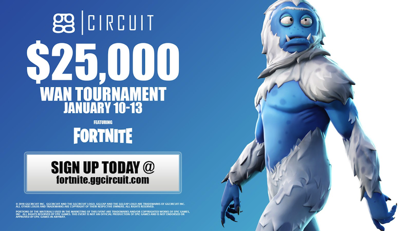 ggCircuit Announces Winter Wan Esports Tournament Featuring Fortnite