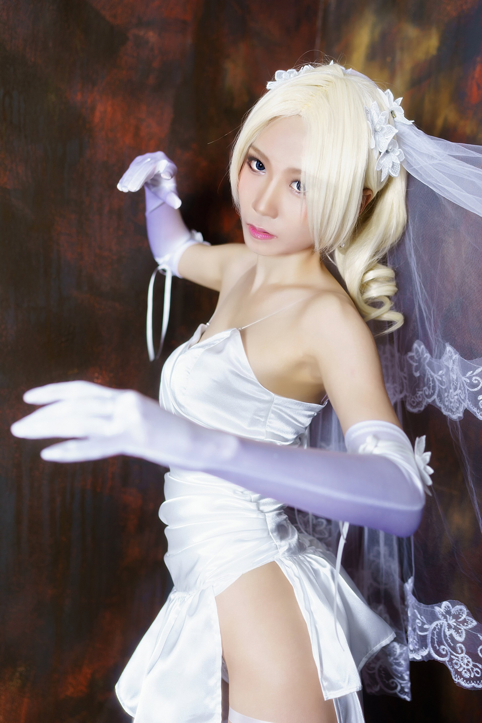 Tekken 7 Wedding Dress Nina Williams Cosplay Yujin