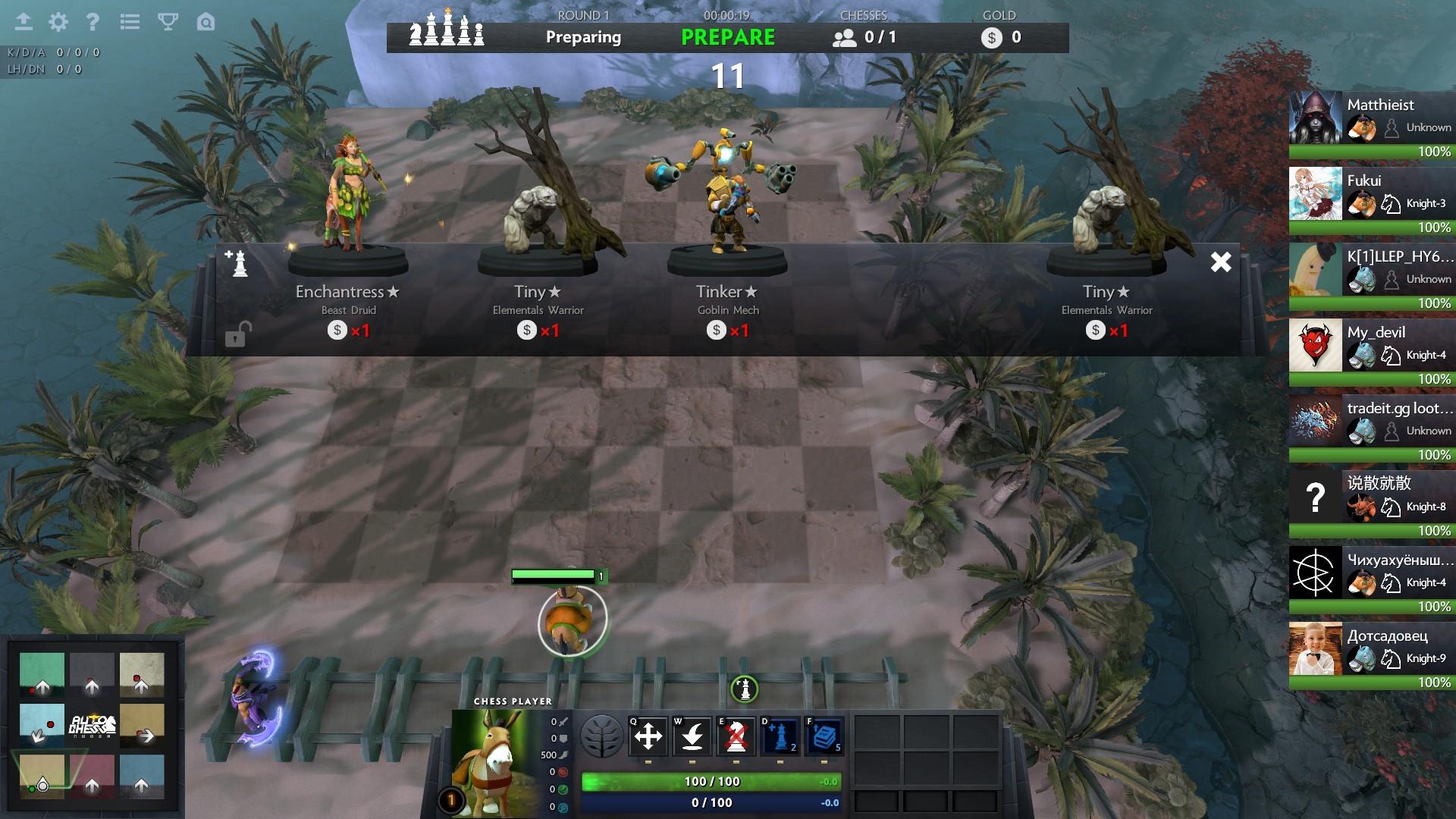 Dota 2: Knights, bishops and    demons? - Exploring Dota Auto Chess