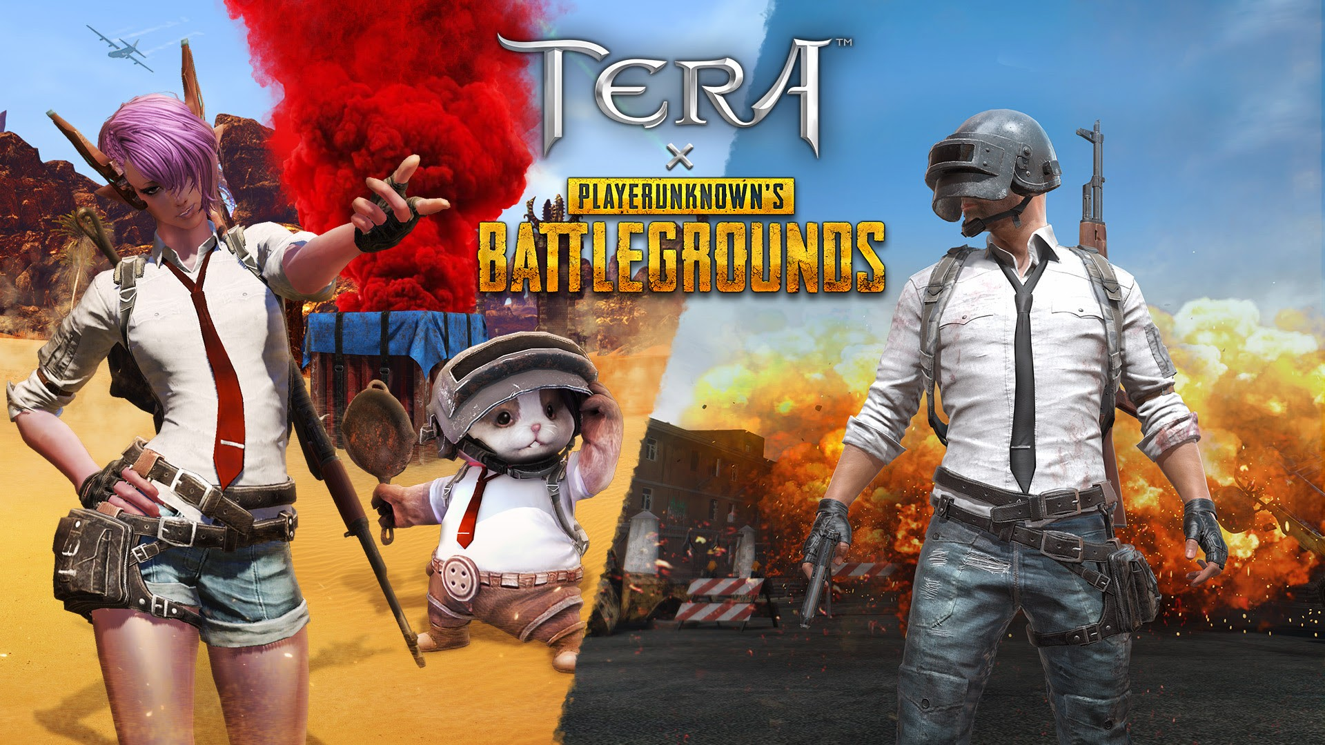 Playerunknown S Battlegrounds Drop Into Tera X Playerunknown S Battlegrounds Collaboration On March 5 Inven Global