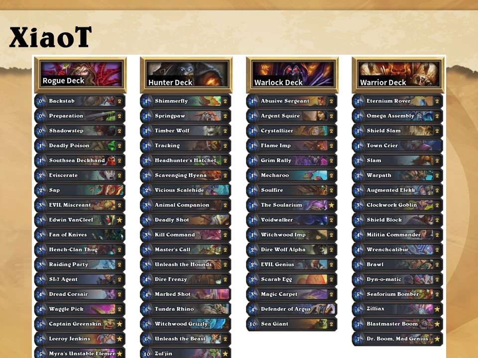 Best Hearthstone Decks April 2019 Hearthstone: 2019 HCT World Championship Deck Lists revealed