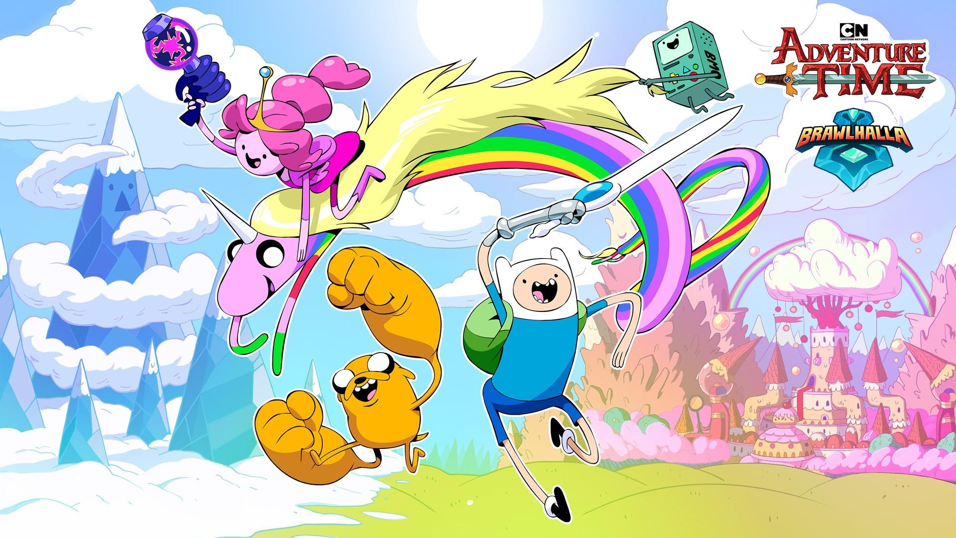 Brawlhalla Collaborates With Adventure Time Adds Finn Jake And