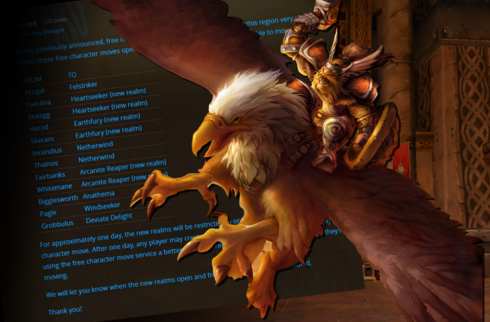 Blizzard adds even more new realms to World of Warcraft