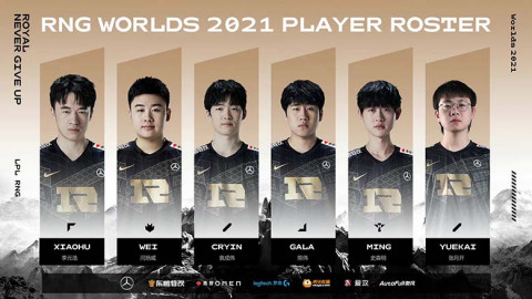 RNG Worlds 2021 roster announced, head coach Tabe to communicate with the team online due to visa issues